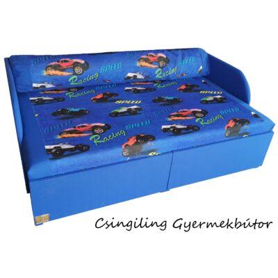 """SUNSHINE"" kollekció - RORI kárpitos kanapéágy: Kék - kék racing"