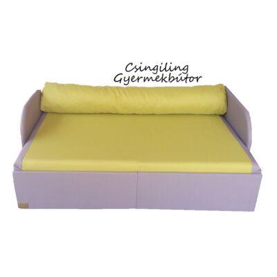 Rori Sunshine ágyneműtartós kihúzható kanapéágy: kávé kiwi zöld