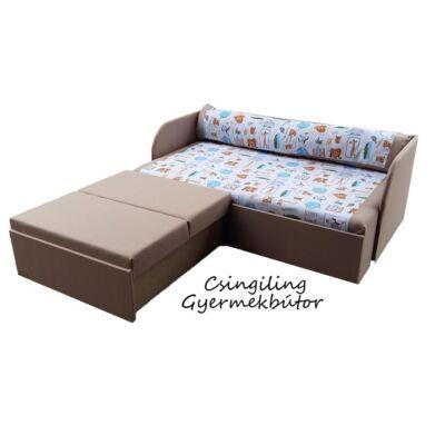 Rori Sunshine ágyneműtartós kihúzható kanapéágy: kávé dzsungeles