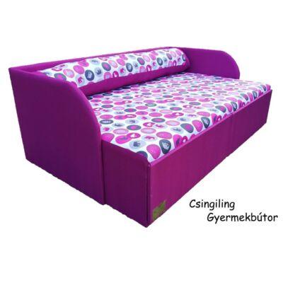 Rori Wextra ágyneműtartós kárpitos kanapéágy: orchidea rózsaszín elefántos