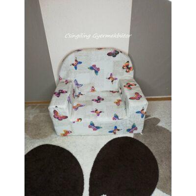 Berry Baby Babafotel - klasszikus (0-3 éves korig): Lila apró pillangós KÉSZLETRŐL!!!-bútorszövet