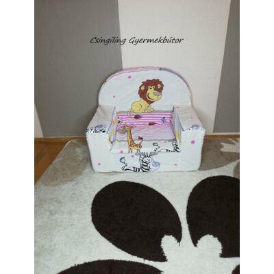 Berry Baby Babafotel - klasszikus (0-3 éves korig): Rózsaszín szafaris KÉSZLETRŐL!!!-pamutvászon