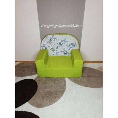 Berry Baby Babafotel - klasszikus (0-3 éves korig): Kiwi nyuszis KÉSZLETRŐL!!!-bútorszövet