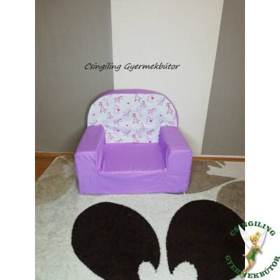 Berry Baby Babafotel - klasszikus (0-3 éves korig): Lila - Lila zebrás KÉSZLETRŐL!!!-pamutvászon