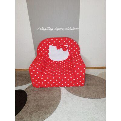 Berry Baby Babafotel - klasszikus (0-3 éves korig)KIHAJTHATÓ VÁLTOZATBAN: Piros pöttyös Hello Kitty fantázia KÉSZLETRŐL!!!-bútorszövet