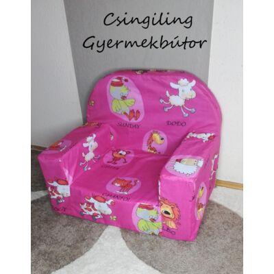 Berry Baby Babafotel - klasszikus (0-3 éves korig): Pink állatos KÉSZLETRŐL!!!-pamutvászon
