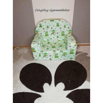 Berry Baby Babafotel - klasszikus (0-3 éves korig): Zöld apró békás KÉSZLETRŐL!!!-pamutvászon