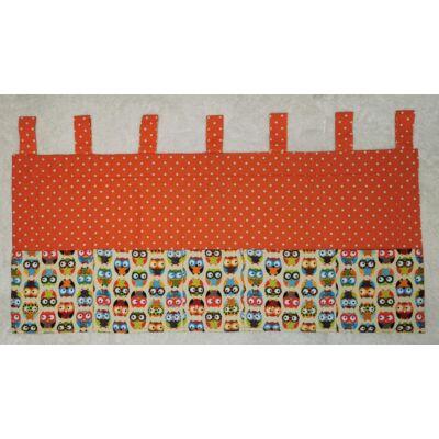 Falvédő zsebekkel: SUNSHINE Narancs pöttyös - színes baglyos 60x140 cm-es KÉSZLETRŐL!!!